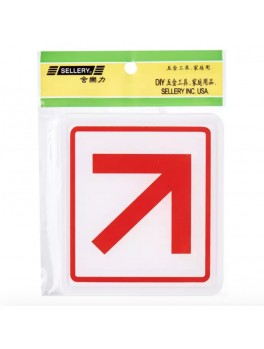 """SELLERY 16-062 """"Diagonal Pointing Arrow"""" Sign"""