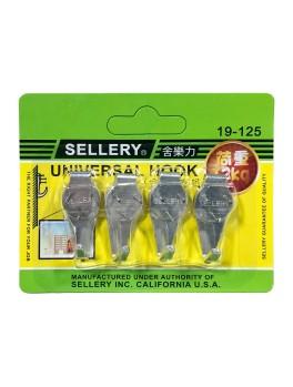 SELLERY 19-125 Universal Hardwall Hooks - 4 Hooks