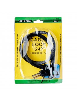 """SELLERY 22-122 Cable Lock 24""""x4mm"""