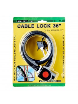 """SELLERY 22-125 Cable Lock 36""""x12mm"""
