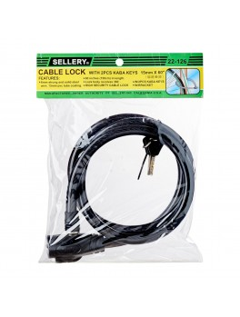"""SELLERY 22-126 Cable Lock 15mmx60"""""""