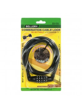 """SELLERY 22-133 Combination Cable Lock 36""""x10mm"""