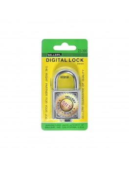 SELLERY 22-390 Digital Padlock 35mm-Chrome