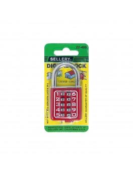 SELLERY 22-400 Digital Padlock 40mm- Red