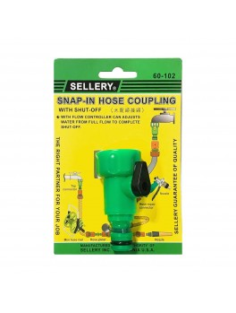 SELLERY 60-102 Snap In Hose Connector (with Flow Control)