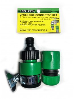 """SELLERY 60-098 2pc Hose Connector Set 3/4"""""""
