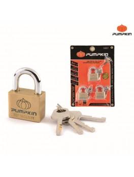PUMPKIN 39501 3pcs Brass Padlock Set 40mm