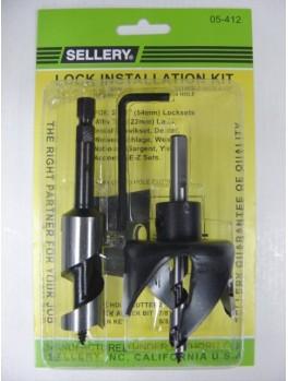 """SELLERY 05-412 Lock Installation Kit (2.1/8"""" Hole Saw, 7/8"""" Auger Bit, 5/32"""" Allen Key)"""