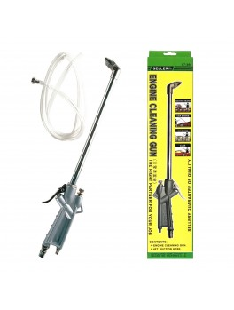 """SELLERY 07-360 Engine Cleaning Gun, 8.1/2"""" Chrome Plated Steel Tube & 4Ft Suction Hose"""