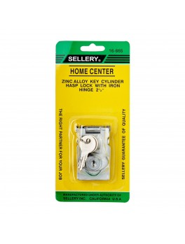 """SELLERY 16-665 Hasp Lock Size 2.5"""" (with 2 Keys)"""