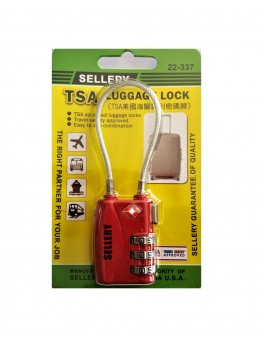 SELLERY 22-337 Travel Sentry® Approved Padlock (Red)