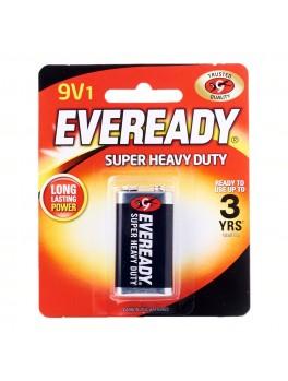 EVEREADY 1222 BP1 Carbon Zinc Battery, Super Heavy Duty, Size:9V (1pc/card)